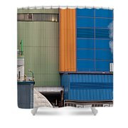 Waste-to-energy Plant Detail Oberhausen Germany Shower Curtain