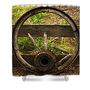 Www. Wasted Wagon Wheel Shower Curtain