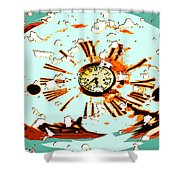 Wasting Time Shower Curtain
