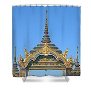 Wat Amarintaram Temple Gate Dthb1524 Shower Curtain