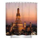 Wat Arun At Sunset - Bangkok Shower Curtain