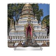 Wat Chai Monkol Phra Chedi Buddha Niche Dthcm0863 Shower Curtain