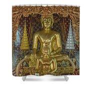 Wat Chai Monkol Phra Ubosot Buddha Images Dthcm0849 Shower Curtain