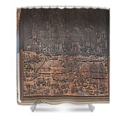 Wat Chai Monkol Phra Ubosot Diorama Of Village Life Dthcm0856 Shower Curtain