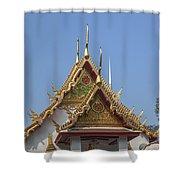 Wat Chumphon Nikayaram Phra Ubosot Gables Dtha0125 Shower Curtain