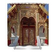 Wat Dok Eung Phra Ubosot Entrance Dthcm0353 Shower Curtain