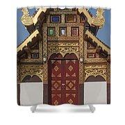 Wat Duang Dee Phra Ubosot Door  Dthcm0297 Shower Curtain