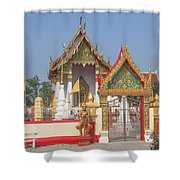 Wat Kampaeng Phra Ubosot And Gate Dtha0142 Shower Curtain
