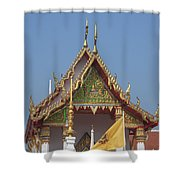 Wat Kampaeng Phra Ubosot Gable Dtha0143 Shower Curtain