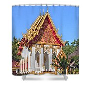 Wat Khong Chiam Ubosot Dthu085 Shower Curtain