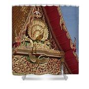 Wat Luang Pu Supa Ubosot Gable Dthp330 Shower Curtain