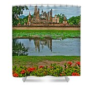 Wat Mahathat In13th Century Sukhothai Historical Park-thailand Shower Curtain