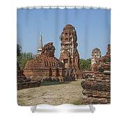 Wat Mahathat Prangs And Chedi Dtha0231 Shower Curtain
