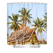 Wat Mai Temple - Luang Prabang - Laos Shower Curtain