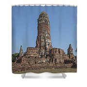 Wat Phra Ram Great Central Prang Complex Dtha0157 Shower Curtain