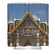 Wat Phrasri Mahathat Ubosot Gable Dthb1465 Shower Curtain