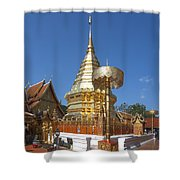 Wat Phratat Doi Suthep Golden Chedi Dthcm0002 Shower Curtain
