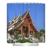 Wat Phuak Hong Phra Wihan Dthcm0581 Shower Curtain