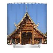 Wat Phuak Hong Phra Wihan Gable Dthcm0575 Shower Curtain