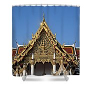 Wat Ratchaburana Ratchaworawiharn Ubosot Gable Dthb986 Shower Curtain