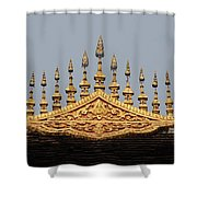 Wat Roof Detail Shower Curtain