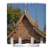 Wat Sri Don Chai Phra Ubosot Gable Dthcm0095 Shower Curtain