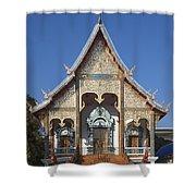 Wat Sri Don Chai Phra Wiharn Dthcm0084 Shower Curtain