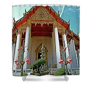 Wat Suthat In Bangkok-thailand Shower Curtain