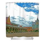 Wat Tha Sung Temple In Uthaithani-thailand Shower Curtain