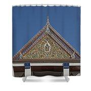 Wat Thewasunthon Preaching Hall Gable Dthb1423 Shower Curtain