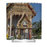 Wat Thewasunthon Ubosot Gate Dthb1420 Shower Curtain