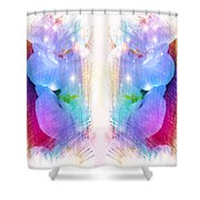 Watch Each Other Shower Curtain
