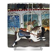 Watch Hill Merry Go Round Shower Curtain