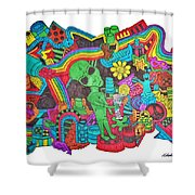 Watch Out Shower Curtain by Chelsea Geldean