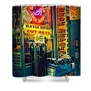 Watch Repair Shop - Keys Made Here Shower Curtain