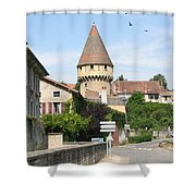 Watch Tower In Cluny Shower Curtain