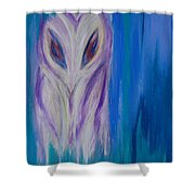 Watcher In The Blue Shower Curtain