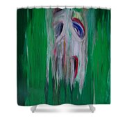 Watcher In The Green  Totem Series  Shower Curtain