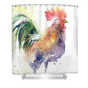 Watchful Rooster Shower Curtain
