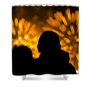 Watching Fireworks Shower Curtain