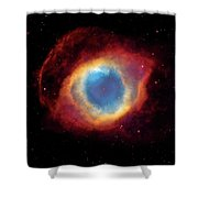 Watching - Helix Nebula Shower Curtain by Jennifer Rondinelli Reilly - Fine Art Photography
