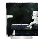 Watching Over Them Shower Curtain by Trish Mistric