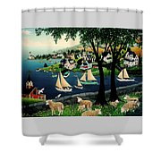 Watching The Race Shower Curtain