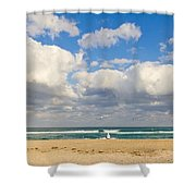 Watching The Waves Shower Curtain
