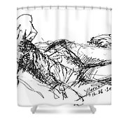 Watching Tv Shower Curtain