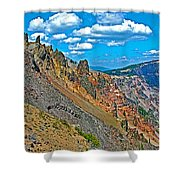 Watchman Overlook In Crater Lake National Park-oregon Shower Curtain