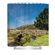 Watendlath Stone Footbridge Vertical Shower Curtain