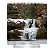 Water And Ice Flow Shower Curtain