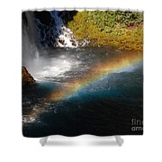 Water And Rainbow Shower Curtain