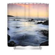 Water And The Sunset Shower Curtain